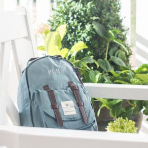 BackPack Mini Petrol med monogram
