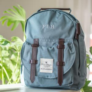 BackPack Mini Petrol med monogram helbild