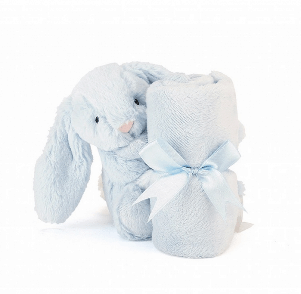 Bashful Blue Bunny Soother – snutte från Jellycat