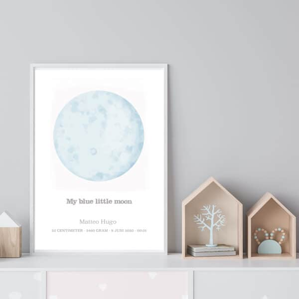 My Blue Little Moon - personlig poster