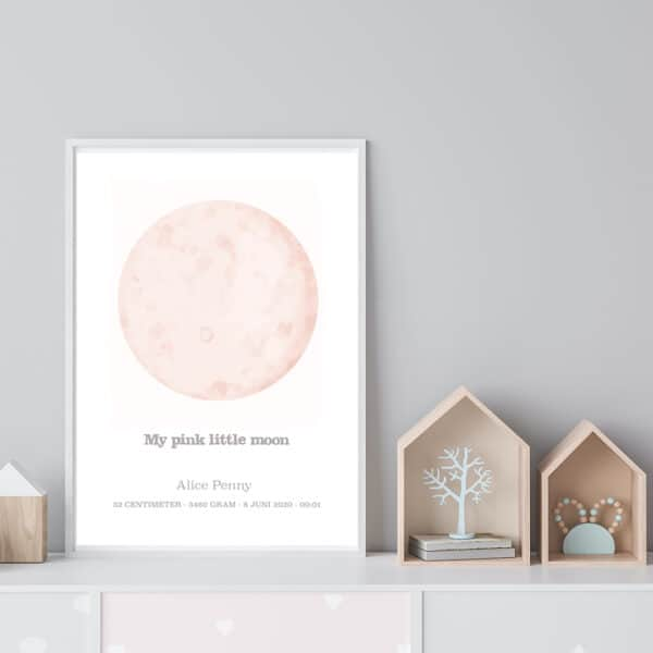 My Pink Little Moon - personlig poster